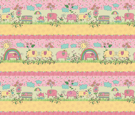 ELW-wmb_Row_Print fabric by wendybentley on Spoonflower - custom fabric