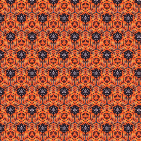 Sunset Cells fabric by siya on Spoonflower - custom fabric