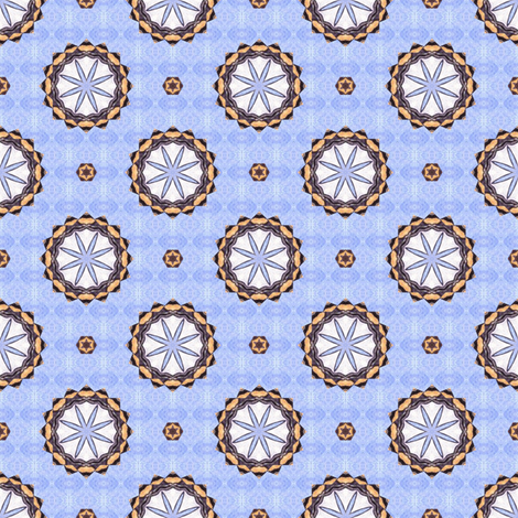 Spoony's Wheels - Blue fabric by siya on Spoonflower - custom fabric