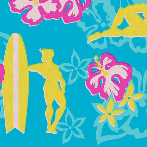 Muscle Beach - surf fabric by thecalvarium on Spoonflower - custom fabric