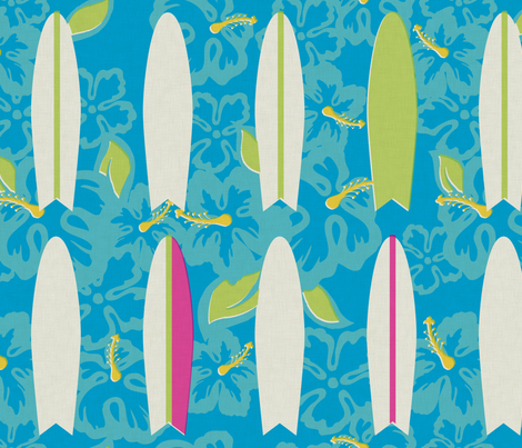 Hang Ten - surf fabric by jwitting on Spoonflower - custom fabric