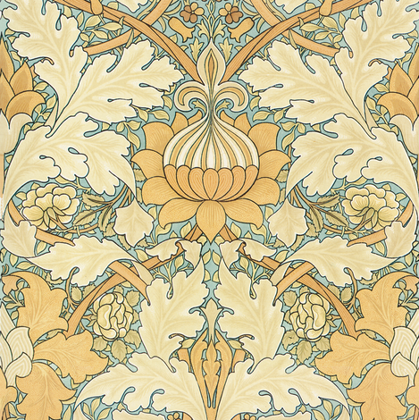 William Morris ~ Growing Damask fabric by peacoquettedesigns on Spoonflower - custom fabric