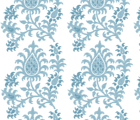 Pastel Blue Damask fabric by leeandallandesign on Spoonflower - custom fabric
