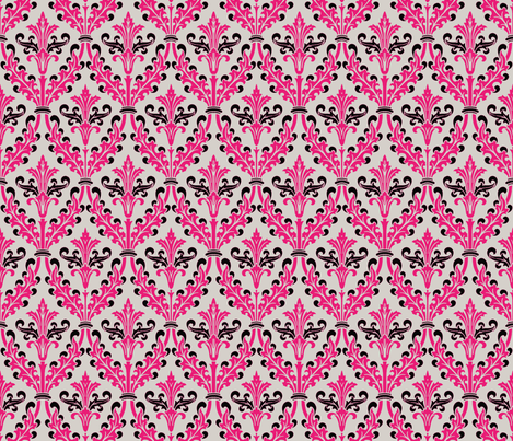 The Damask Divine ~ Morelia fabric by peacoquettedesigns on Spoonflower - custom fabric
