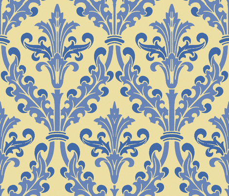 The Damask Divine ~ Marylène fabric by peacoquettedesigns on Spoonflower - custom fabric
