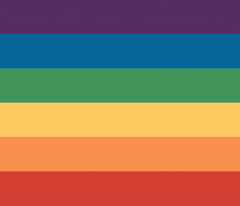 Gay Pride Rainbow – horizontal