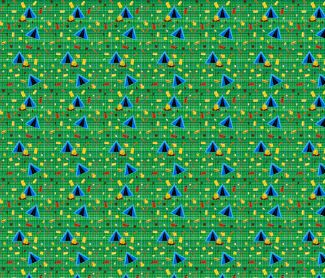 camping-ed fabric by mejo on Spoonflower - custom fabric