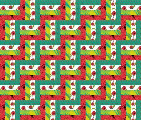 fail_fence_2x2 fabric by khowardquilts on Spoonflower - custom fabric