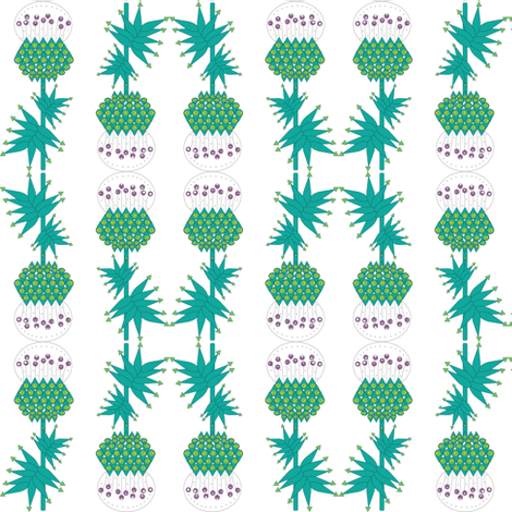 Art deco thistle  fabric by akwaflorell on Spoonflower - custom fabric