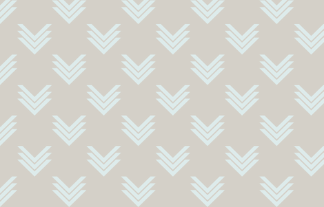 Icy Chevrons fabric by candyjoyce on Spoonflower - custom fabric