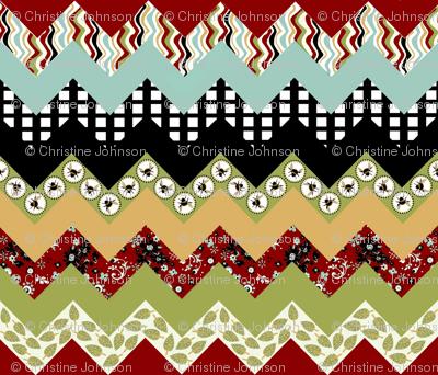 1 Buzzy Bee Zigzag quilt