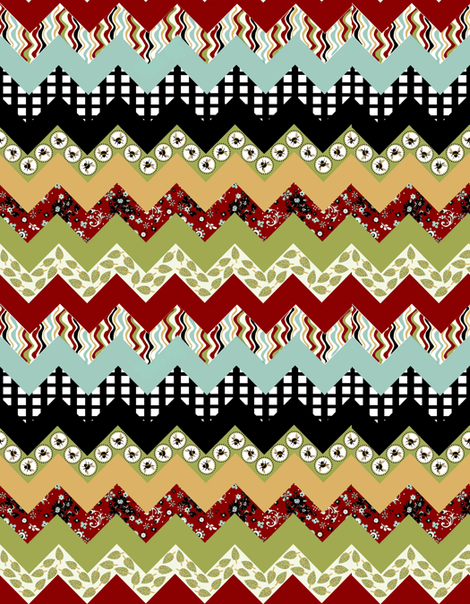 1 Buzzy Bee Zigzag quilt fabric by paragonstudios on Spoonflower - custom fabric