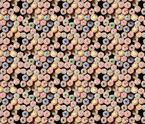 pencil stack fabric by kociara on Spoonflower - custom fabric