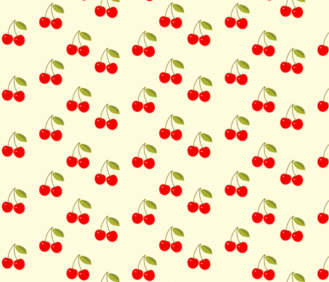 Red_Cherries fabric by kiki_ on Spoonflower - custom fabric
