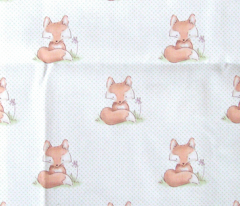 Woodland Nursery Fox with Green Dots