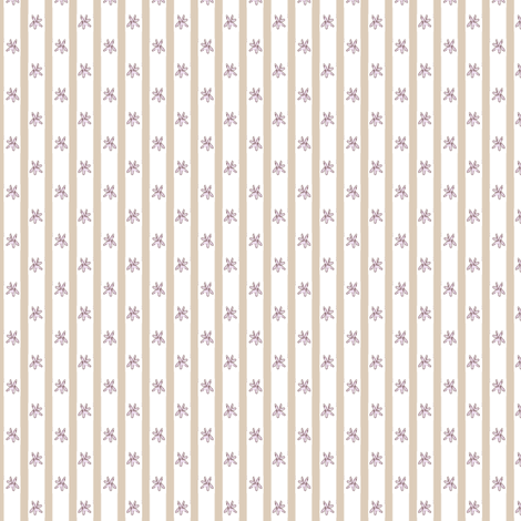 Lavender Flowers with Beige Stripes fabric by risarocksit on Spoonflower - custom fabric
