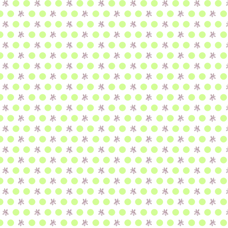 Lavender Flowers with Green Dots fabric by risarocksit on Spoonflower - custom fabric