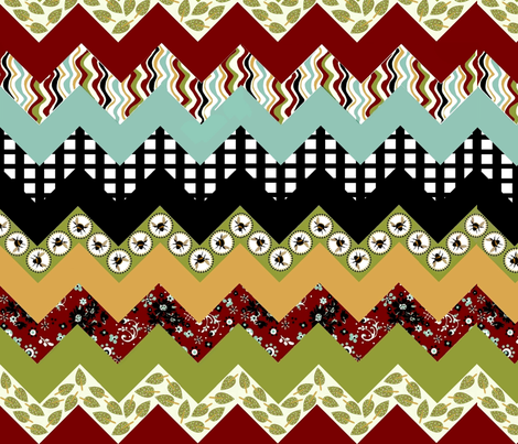 buzzy bee zigzag fabric by paragonstudios on Spoonflower - custom fabric