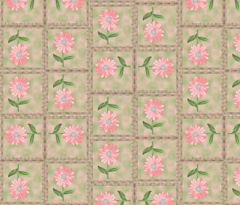 daisy_in_frame fabric by anino on Spoonflower - custom fabric