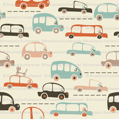 cartoon cars in vector