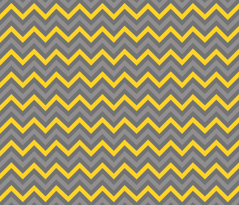 Robot Chevron (Yellow) fabric by robyriker on Spoonflower - custom fabric