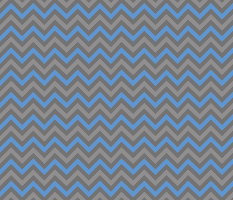 Robot Chevron (Blue) fabric by robyriker on Spoonflower - custom fabric