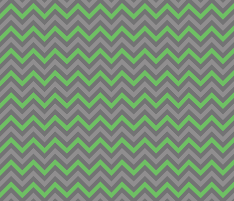 Robot Chevron (Green) fabric by robyriker on Spoonflower - custom fabric
