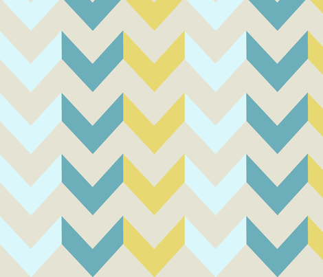 Lagoon Chevron fabric by allisajacobs on Spoonflower - custom fabric