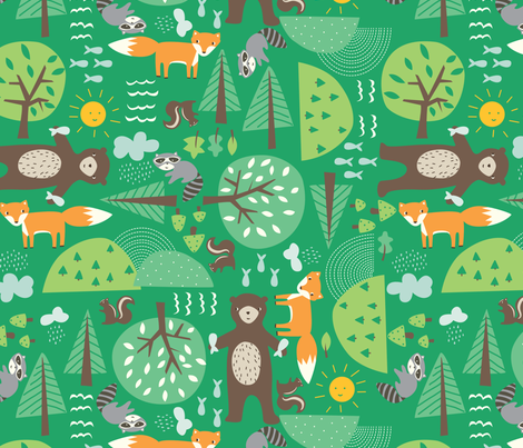 critters fabric by stacyiesthsu on Spoonflower - custom fabric
