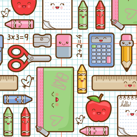 back to school fabric by woodmouse&bobbit on Spoonflower - custom fabric