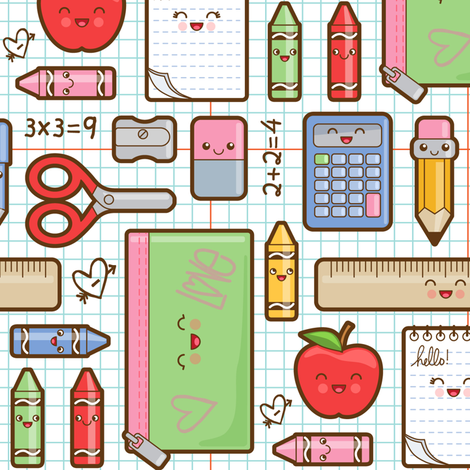 back_to_school fabric by woodmouse&bobbit on Spoonflower - custom fabric