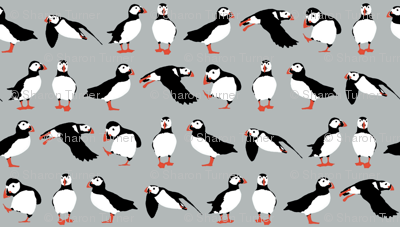 just puffins silver