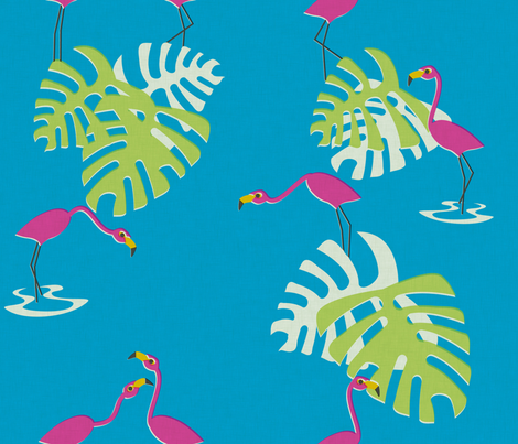 flamingos fabric by thecalvarium on Spoonflower - custom fabric