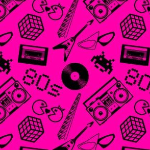 80s Icons on hot pink