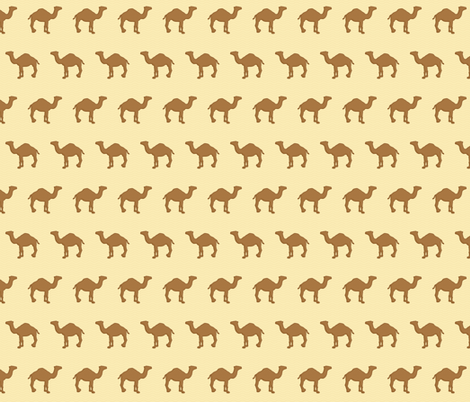Gingerbread Camels fabric by katarra on Spoonflower - custom fabric