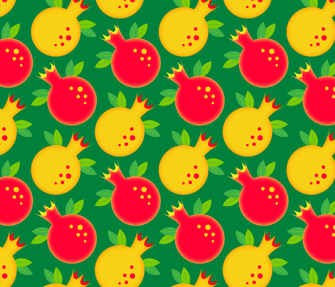 Pomegranates fabric by nekineko on Spoonflower - custom fabric