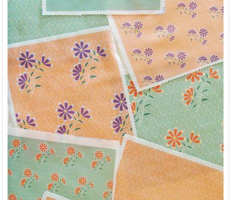 Naila Floral Batik Plain Green