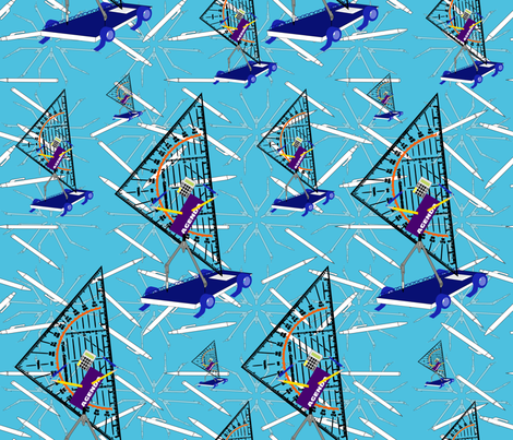 Windsurfing school supplies fabric by alexsan on Spoonflower - custom fabric