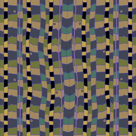 Snake Bed (Blue) fabric by david_kent_collections on Spoonflower - custom fabric
