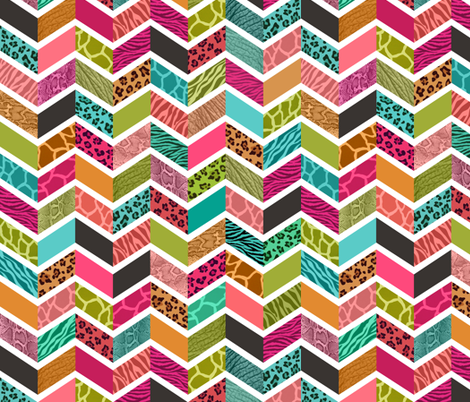 Animal Print Chevron - Springtime Palette fabric by dianef on Spoonflower - custom fabric