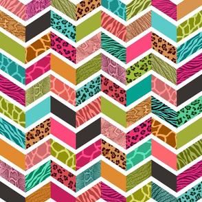 Animal Print Chevron - Springtime Palette