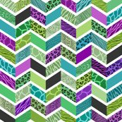Animal Print Chevron - Jewel Tones