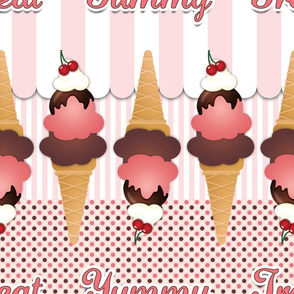 Pink Ice Cream Cones