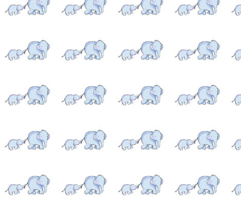 Elephant love medley fabric by kbwell3 on Spoonflower - custom fabric