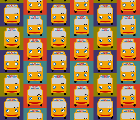 Bus lunch box!  fabric by vo_aka_virginiao on Spoonflower - custom fabric