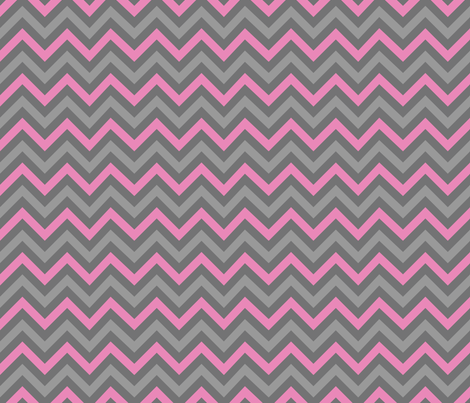 Robotika Chevron (Pink) fabric by robyriker on Spoonflower - custom fabric