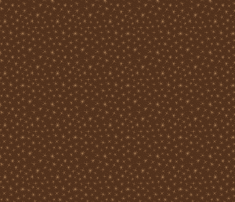 stellate whimsy - oak brown fabric by weavingmajor on Spoonflower - custom fabric