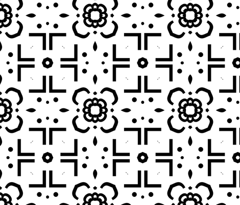Lotus Flower fabric by kstarbuck on Spoonflower - custom fabric