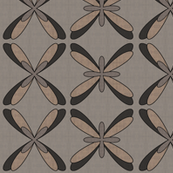 Abstract Dragonfly Floral (beige)