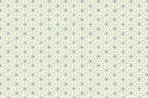 Daisy on White fabric by chez_beccy on Spoonflower - custom fabric